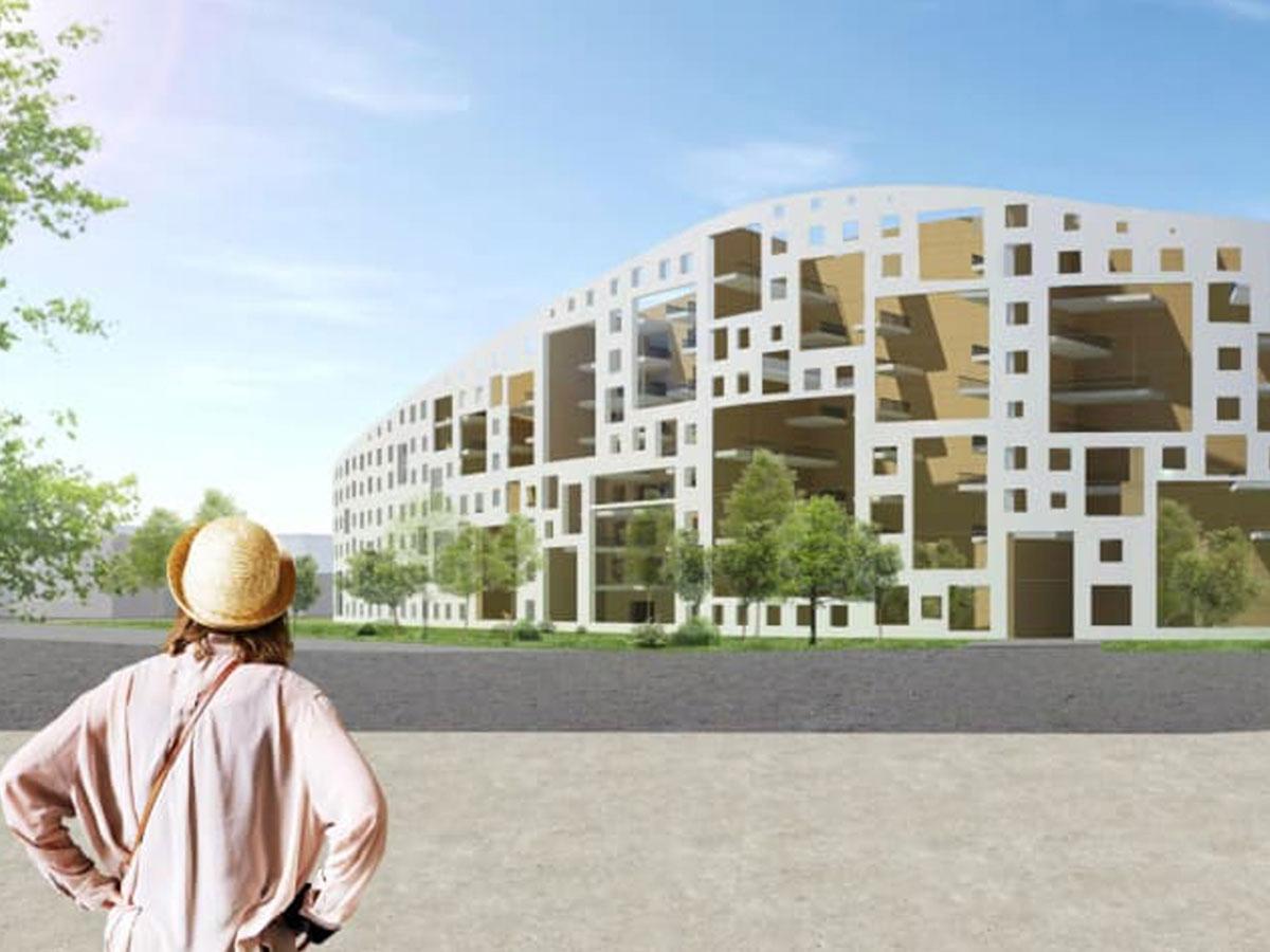 3D-kuva rakennuksesta Turun Jyrkkälässä
