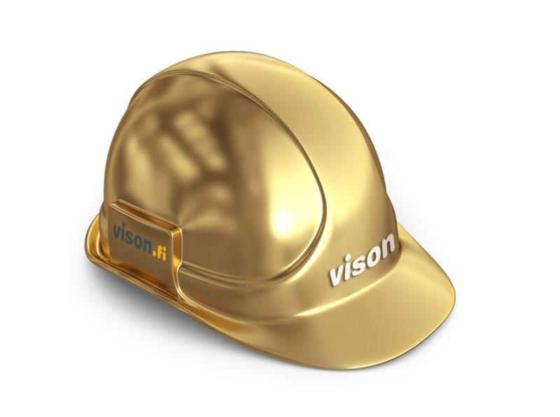 Kultainen Vison-rakennuskypärä