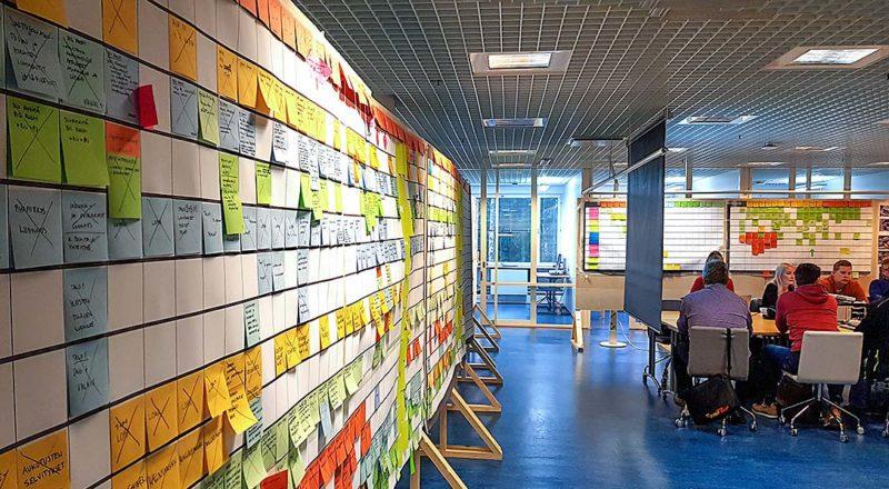 Vison Big Room ja Last Planner -suunnittelutaulu
