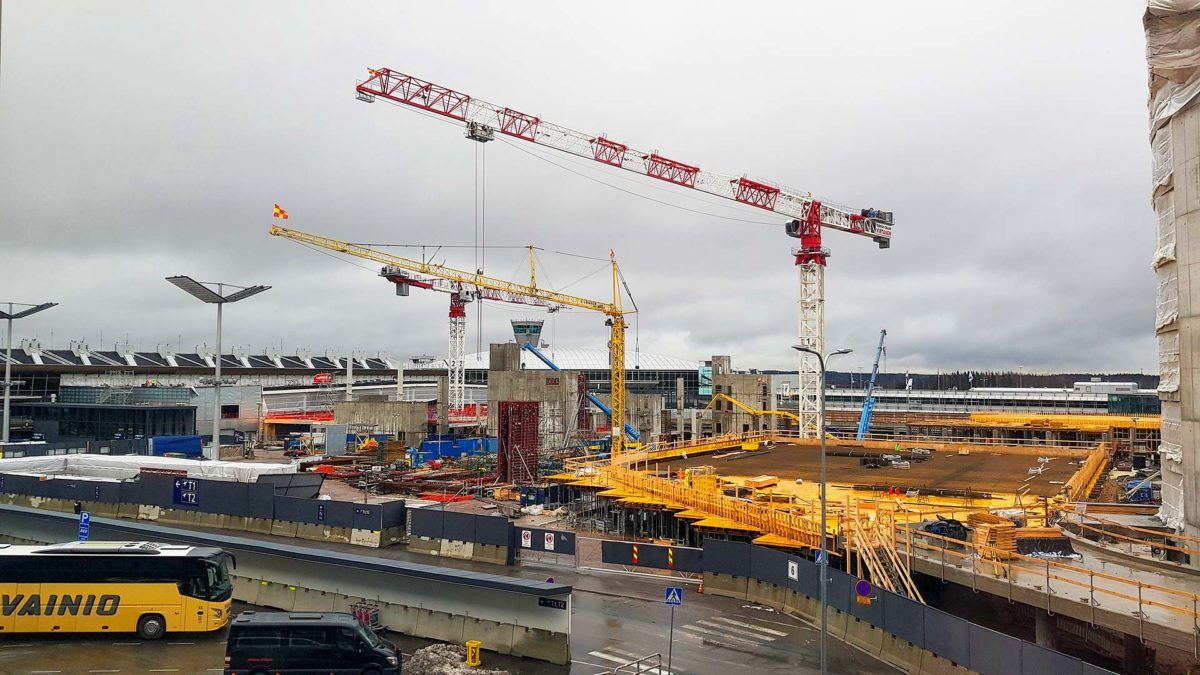 Finavia Terminaali 2 rakennystyömaa